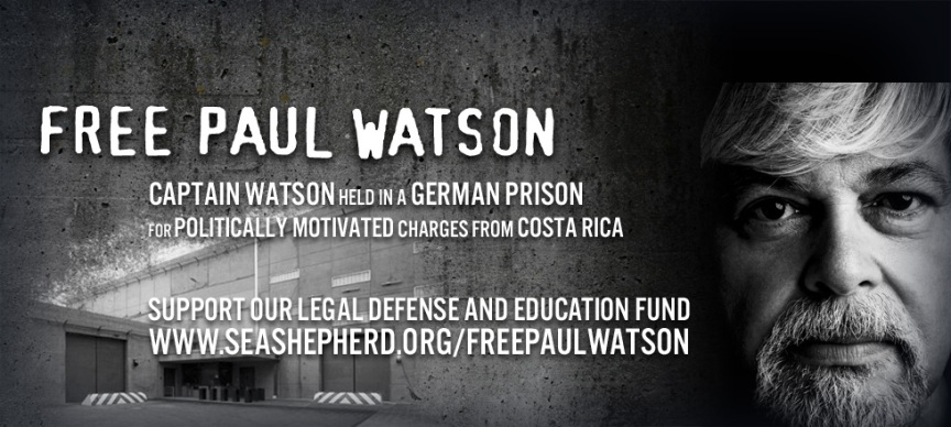 Please help to free Paul Watson @ http://www.seashepherd.org/