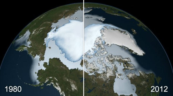 Before-After-NASA-Arctic-Ice-Cap-Melting