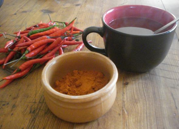 chili tea