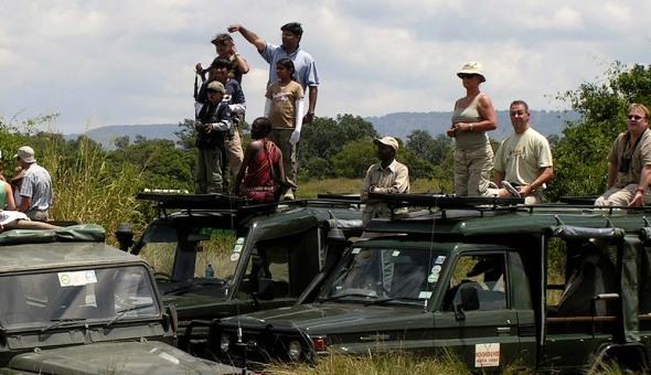 Masai Mara tourists.